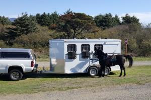Flettner TCX-2 on a horse trailer